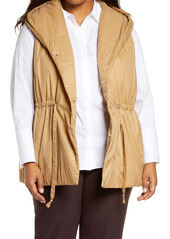 Eileen Fisher Recycled Nylon Hooded Vest (Plus Size)