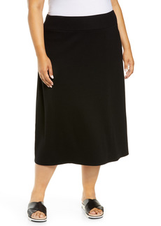 Eileen Fisher Ribbed A-Line Skirt (Plus Size)