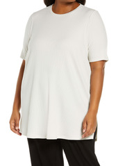 Eileen Fisher Ribbed Knit Tunic (Plus Size)