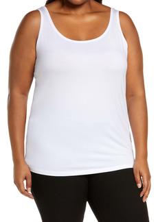 Eileen Fisher Scoop Neck Slim Shell (Plus Size)