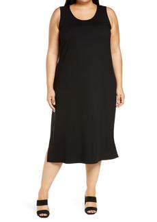 Eileen Fisher Scoop Neck Tank Dress (Plus Size)