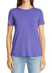 Eileen Fisher Short Sleeve Jersey Tee (Regular & Petite)