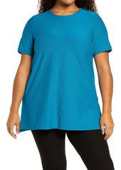 Eileen Fisher Short SleeveTunic Top (Plus Size)
