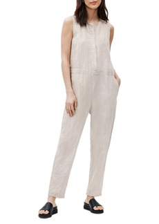 Eileen Fisher Sleeveless Crop Organic Linen Jumpsuit