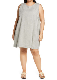 Eileen Fisher Sleeveless Stripe Dress (Plus Size)