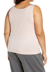 Eileen Fisher Slim Jersey Knit Shell (Plus Size)