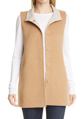Eileen Fisher Stand Collar Long Vest