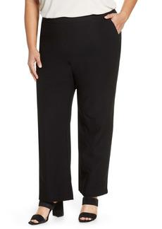 Eileen Fisher Straight Yoke Knit Pants (Plus Size)