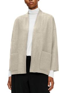 Eileen Fisher System High-Collar Wool Jacket
