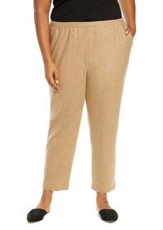 Eileen Fisher Tapered Wool Ankle Pants (Plus Size)