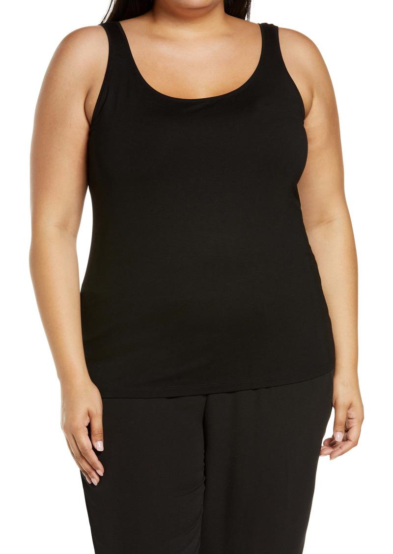 Eileen Fisher Women's Scoop Neck Slim Shell (Plus Size)
