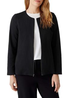 Eileen Fisher Zip Front Organic Cotton Jacket