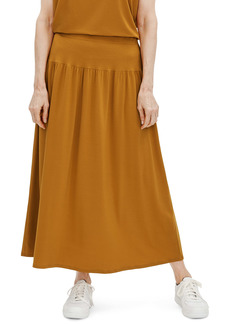 Eileen Fisher Fine Jersey Flare Midi Skirt