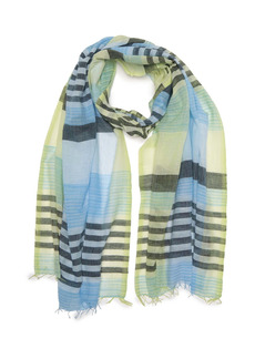 Eileen Fisher Handloomed Ethiopian Cotton Plaid Scarf