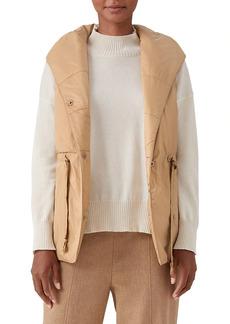 Eileen Fisher Hooded Shawl Collar Vest