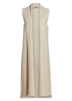 Eileen Fisher Long Shawl Collar Vest
