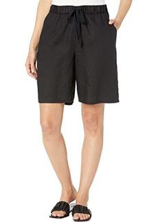 Eileen Fisher Midthigh Shorts in Organic Linen