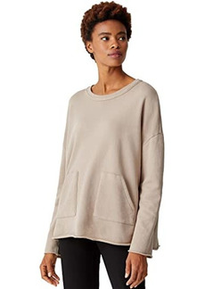 Eileen Fisher Organic Cotton French Terry Crew Neck Boxy Tunic