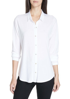 Women's Eileen Fisher Organic Cotton Jersey Classic Collar Shirt