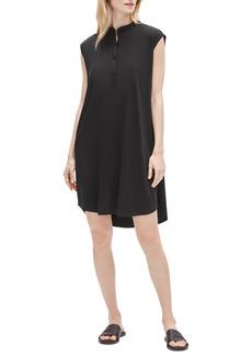Petite Women's Eileen Fisher Mandarin Collar Shirtdress