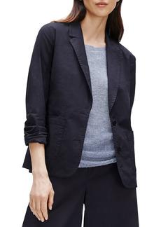 Petite Women's Eileen Fisher Notch Collar Shaped Jacket