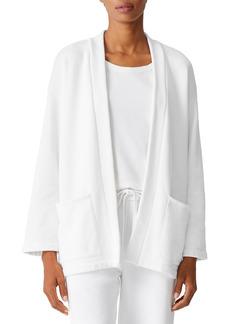 Petite Women's Eileen Fisher Shawl Collar Open Front Jacket