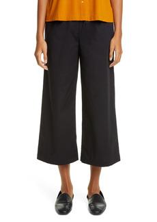 Petite Women's Eileen Fisher Wide Leg Organic Cotton Crop Pants