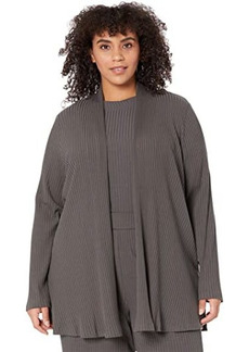 Eileen Fisher Plus Size Straight Jacket w/ Side Slits