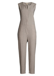 Eileen Fisher Round-Neck Ankle Jumpsuit