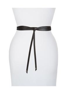 Eileen Fisher Skinny Italian Leather Wrap Belt