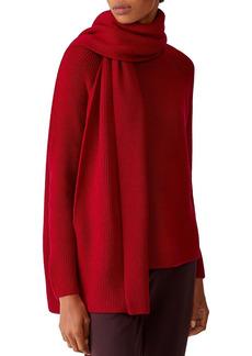 Eileen Fisher Wool Rib-Knit Scarf