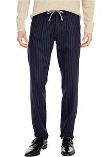 Eleventy Chalk Stripe Wool Joggers