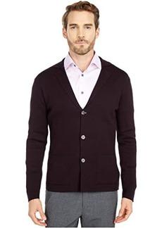 Eleventy Chevron Two-Button Sweater Jacket