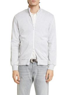 Eleventy Contrast Zip Track Jacket