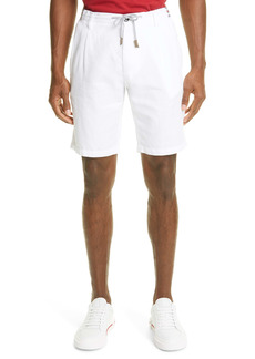Eleventy Drawstring Cotton & Linen Bermuda Shorts