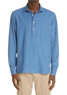 Eleventy Long Sleeve Denim Shirt