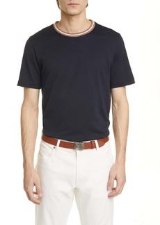 Eleventy Slim Fit Cotton Crewneck T-Shirt