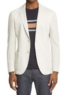 Eleventy Trim Fit Mélange Knit Sport Coat