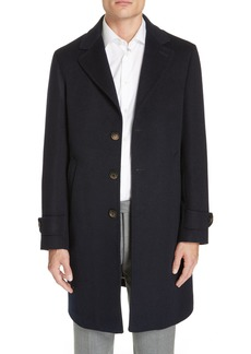 Eleventy Trim Fit Wool & Cashmere Car Coat