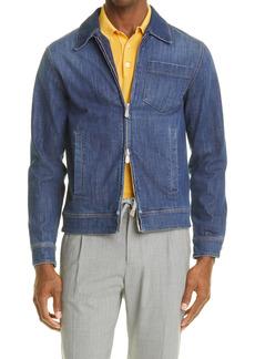 Eleventy Zip Denim Jacket
