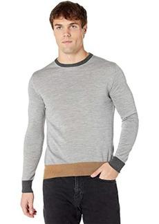 Eleventy Fine Gauge Color-Block Crew Neck Sweater