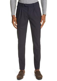 Eleventy Pleated Stretch Wool Dress Pants