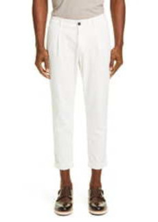 Eleventy Pleated Twill Cotton Blend Pants