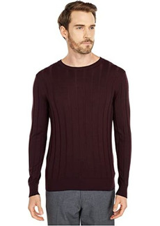 Eleventy Ribbed Crew Neck Sweater w/ Tipping
