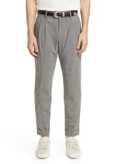 Eleventy Slim Fit Pinstripe Cuff Pants