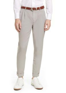 Eleventy Slim Fit Washed Wool Dress Pants