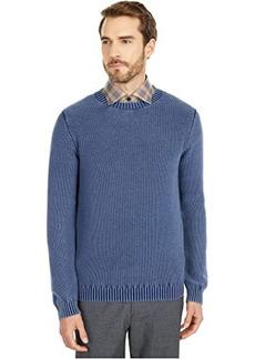 Eleventy Wash Pique Crew Neck Sweater