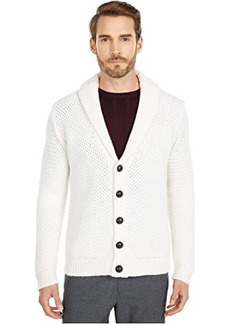 Eleventy Woven Shawl Collar Cardigan