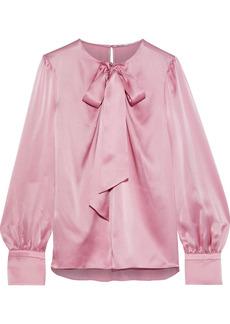 Elie Tahari Woman Bali Pussy-bow Silk-satin Blouse Pink