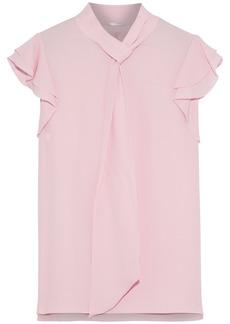 Elie Tahari Woman Bree Tie-neck Silk Crepe De Chine Top Baby Pink